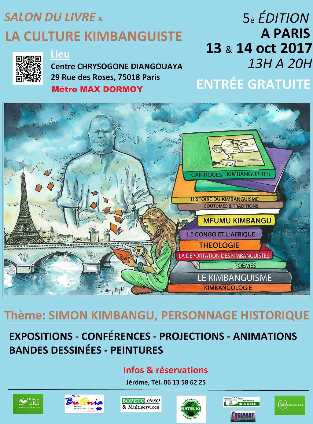 Salon du livre et la culture kimbanguiste - Salon du livre paris 2017 auteurs ...